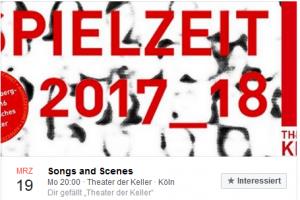 Songs and Scenes am 19.3.2018 im Theater der Keller und danach Fragen im Foyer